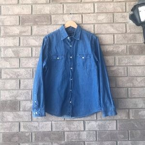 Banana Republic Blue Denim Top